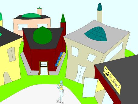 4 mosques vs pub grafiti1